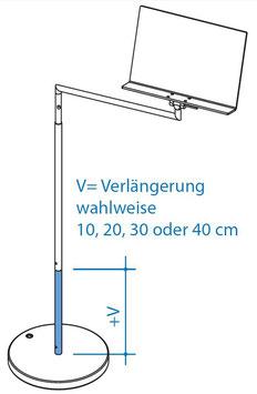 Vertikalverlängerung unten 40 cm, Art. Nr. 10084