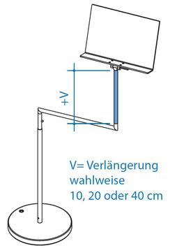 Vertikalverlängerung oben 40 cm, Art. Nr. 10074