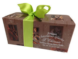 Ballotin 200grs chocolats assortis noirs et lait