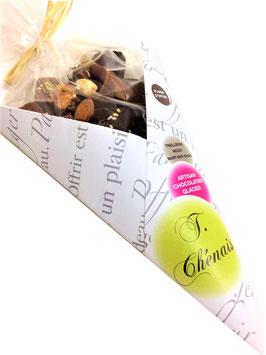 Cornet de chocolats 183grs assortis noirs