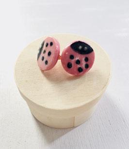 """Boucles d'oreilles """"coccinelle"""""""