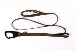 Strong double handle padded dog leash with Tango
