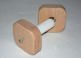 Magnetic dumbbell with plastic centre
