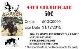 K9 Profi Gift certificate