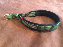 Biothane dog collar with soft leather padding