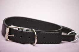 Black Leather collar with handle