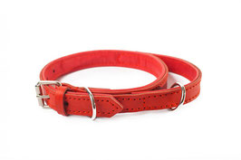 Collar with handle - Red and Red