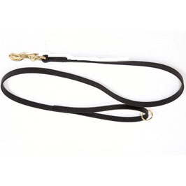 Black BioThane dog single lead