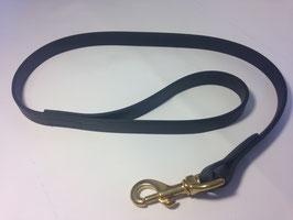 Black BIOTHANE leash 19mm