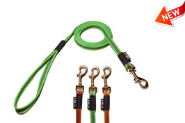 1.5m Rubberised Dog leash 15mm / Brass