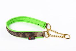 Military Line Nylon half chock collar with brass hardware