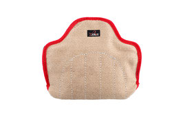 Mini Junior Bite-Sleeve with 3 handles, Jute