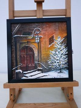 Portal im Schnee