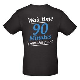 """T-Shirt """"Wartezeit"""" (schwarz, englisch)"""