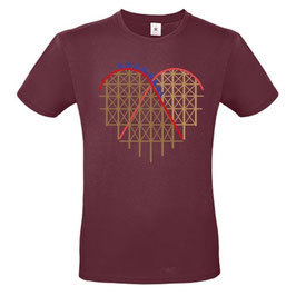 """T-Shirt """"Coaster-Heart"""" (Herz, burgund)"""