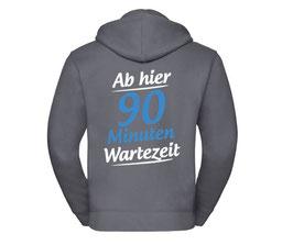 """Zipper """"Wartezeit"""" (anthrazit)"""