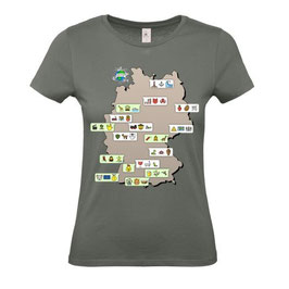 """T-Shirt """"Park-Chat"""" (anthrazit)"""