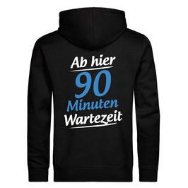 """Zipper """"Wartezeit"""" (schwarz)"""