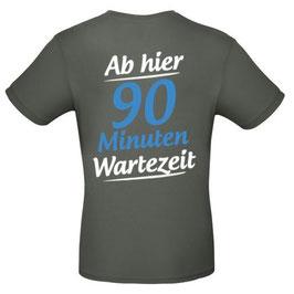 """T-Shirt """"Wartezeit"""" (anthrazit, deutsch)"""