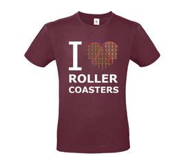 """T-Shirt """"Coaster-Heart"""" (Herz & Spruch, burgund)"""