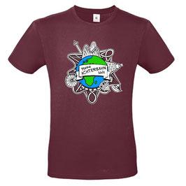 T-Shirt mit Logo (burgund)