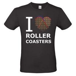 """T-Shirt """"Coaster-Heart"""" (Herz & Spruch, schwarz)"""
