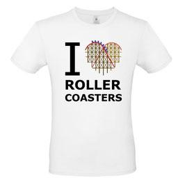 """T-Shirt """"Coaster-Heart"""" (Herz & Spruch, weiß)"""
