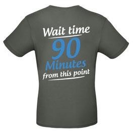 """T-Shirt """"Wartezeit"""" (anthrazit, englisch)"""
