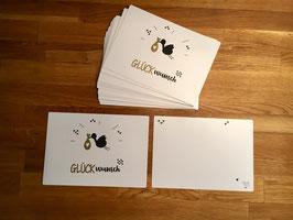 """Karte Goldlinie """"Glückwunsch"""""""