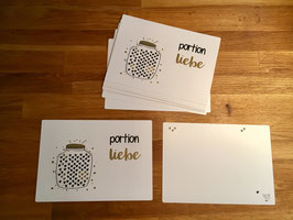 "Karte Goldlinie ""Portion Liebe"""