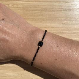 Bracelet doré Spinelle 2mm, REF: BDF24-01