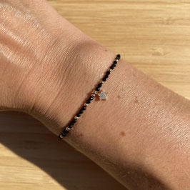 Bracelet doré Spinelle 2mm, REF: BD24-42