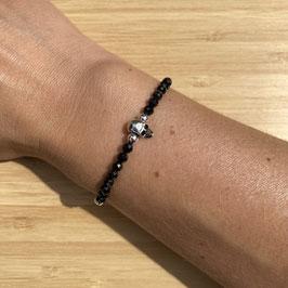 Bracelet argenté Spinelle 4mm, REF: BA14-01