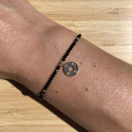 Bracelet doré Spinelle 2mm, REF: BD24-12