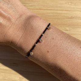 Bracelet doré Spinelle 2mm, REF: BD24-36