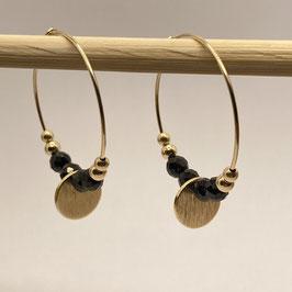 Boucles dorées Spinelle, REF: BOD09-04