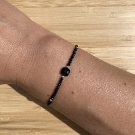 Bracelet argenté Spinelle 2mm, REF: BA11-05