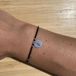 Bracelet argenté Spinelle 2mm, REF: BA11-04