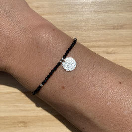 Bracelet argenté Spinelle 2mm, REF: BA11-16