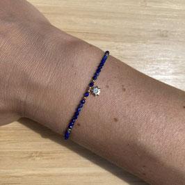 Bracelet doré Lapis Lazuli 2mm, REF: BD10-03