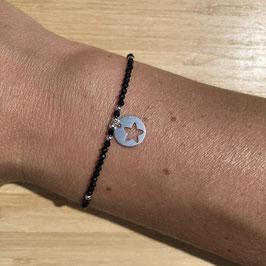 Bracelet argenté Spinelle 2mm, REF: BA11-01