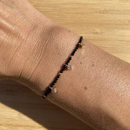 Bracelet doré Spinelle 2mm, REF: BD24-38