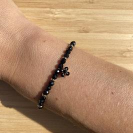 Bracelet doré Spinelle 4mm, REF: BD27-10