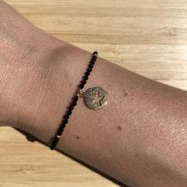 Bracelet doré Spinelle 2mm, REF: BD24-02