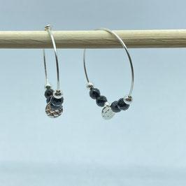 Boucles argentées Spinelle, REF: BOA03-05