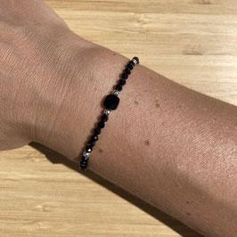 Bracelet argenté Spinelle 3mm, REF: BA13-06