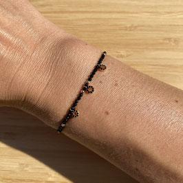Bracelet doré Spinelle 2mm, REF: BD24-37