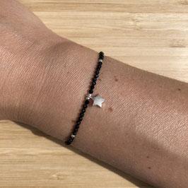 Bracelet argenté Spinelle 2mm, REF: BA11-02