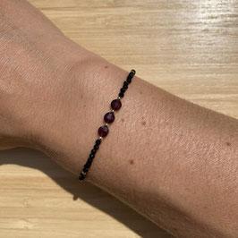 Bracelet doré Spinelle 2mm, REF: BD24-22