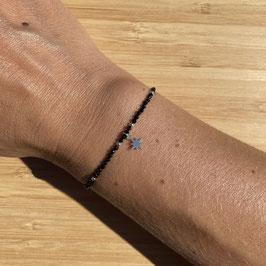 Bracelet argenté Spinelle 2mm, REF: BA11-21